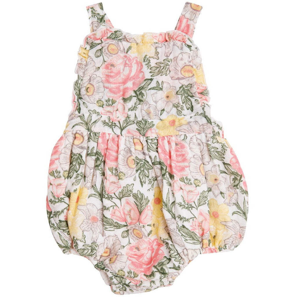 Ruffle Bib Bubble - Traditional Floral