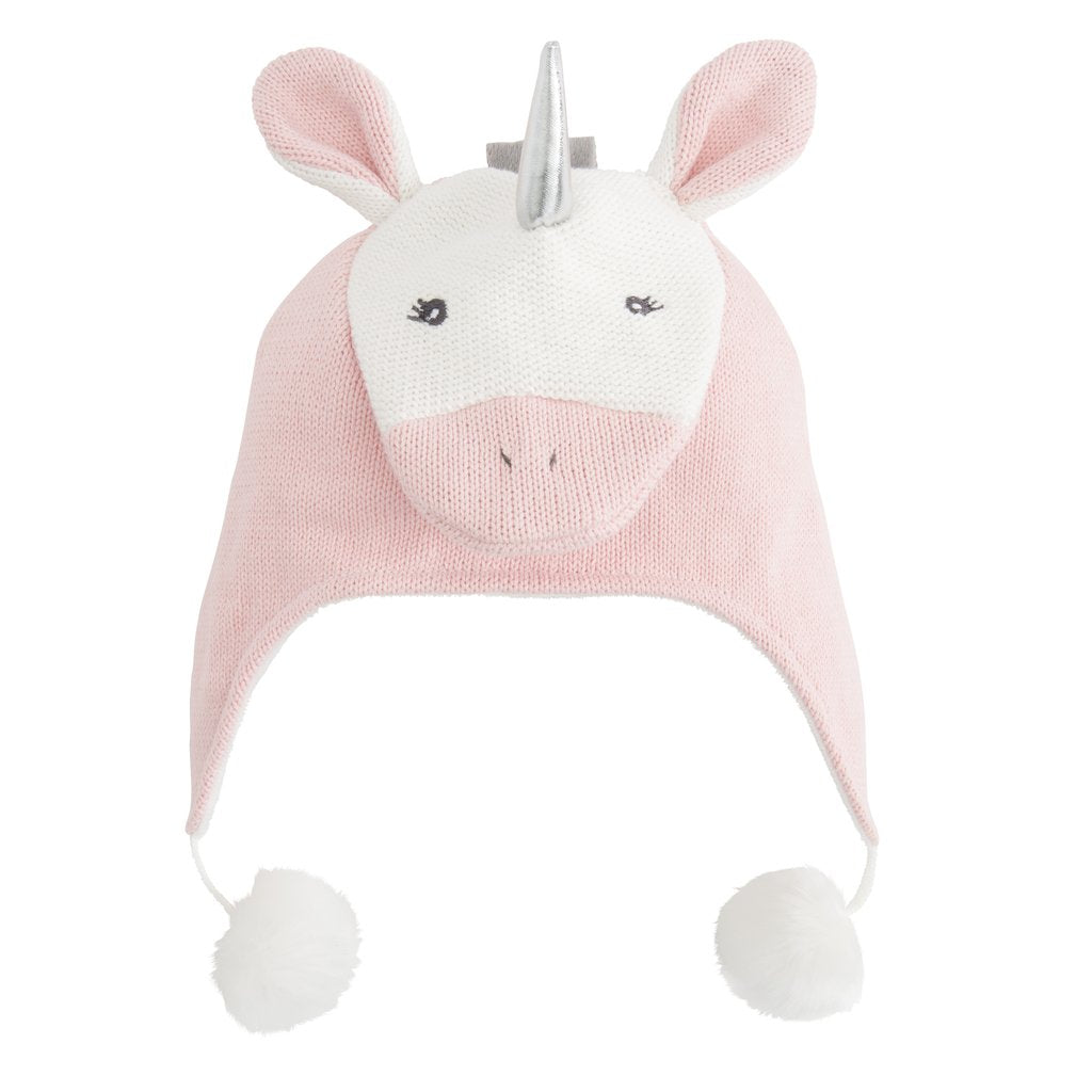 Aviator Knit Hat - Pink Unicorn