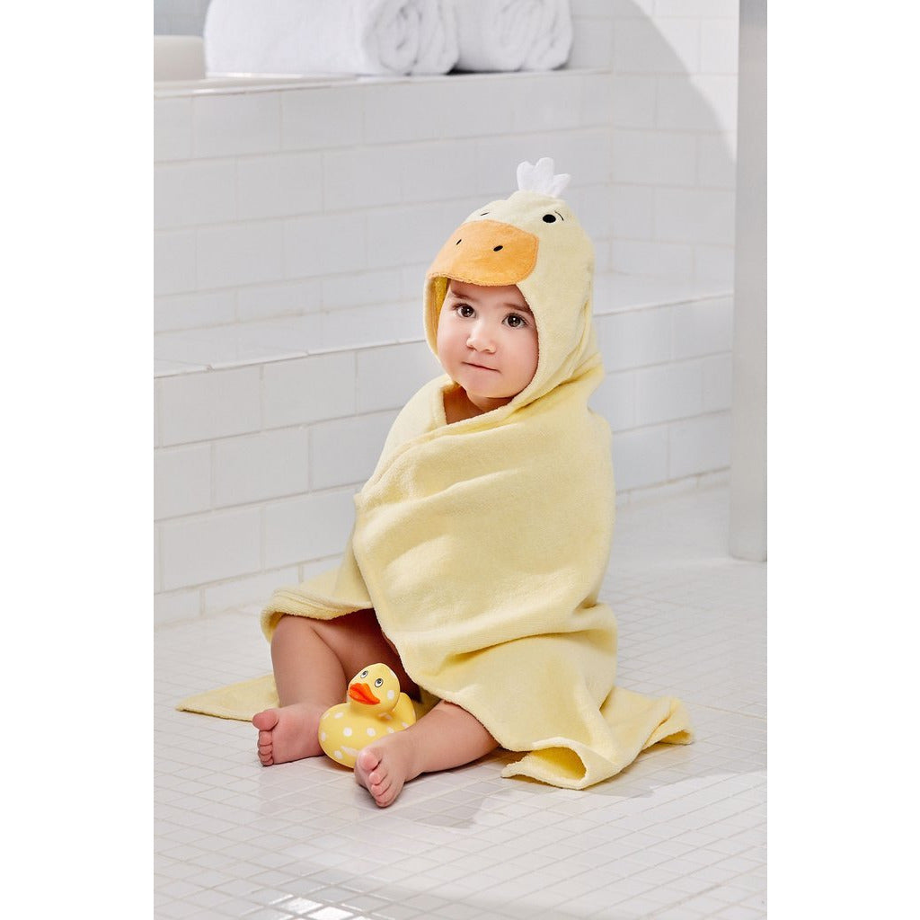 Hooded Bath Wrap - Yellow Duckie