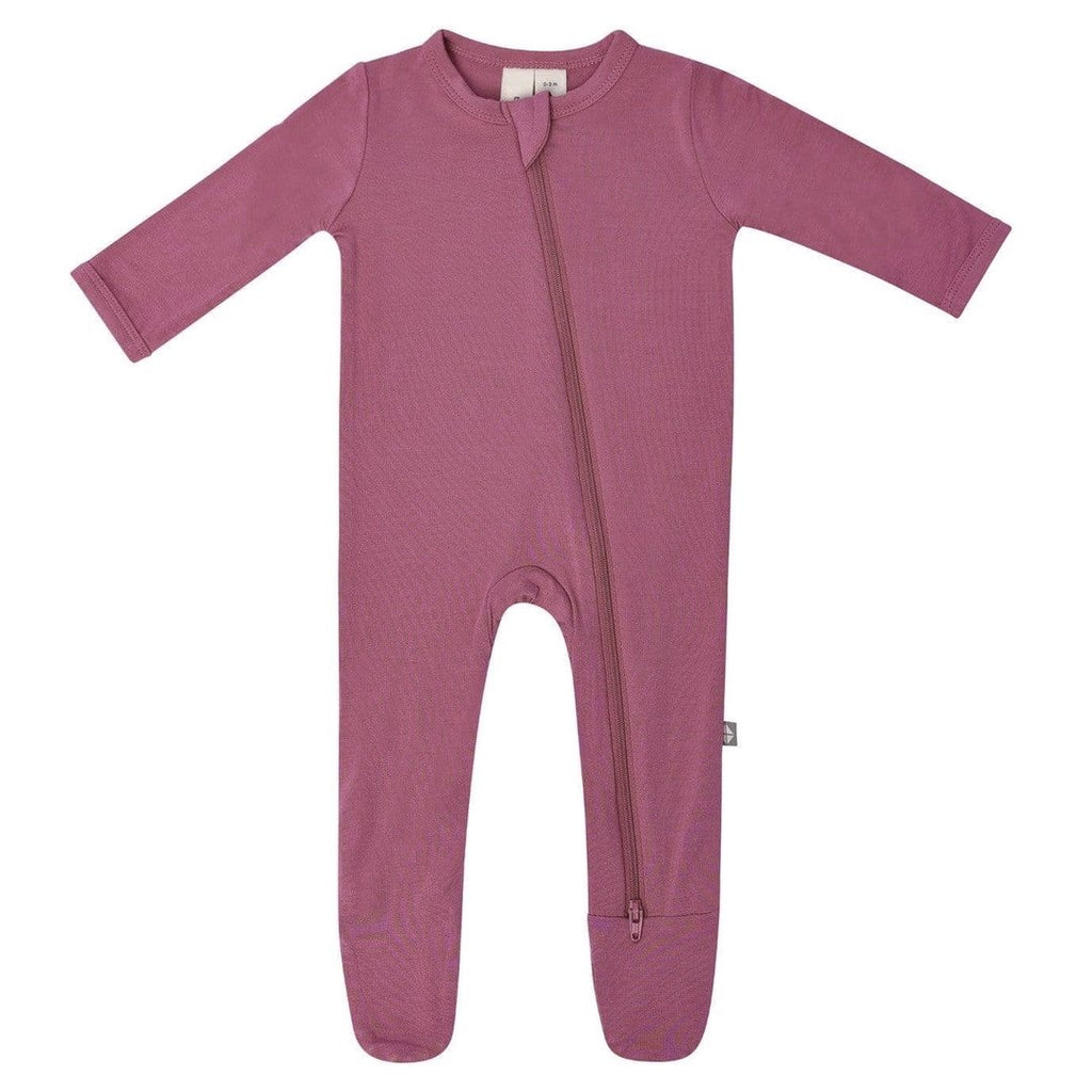 Zippered Footie PJ - Plum