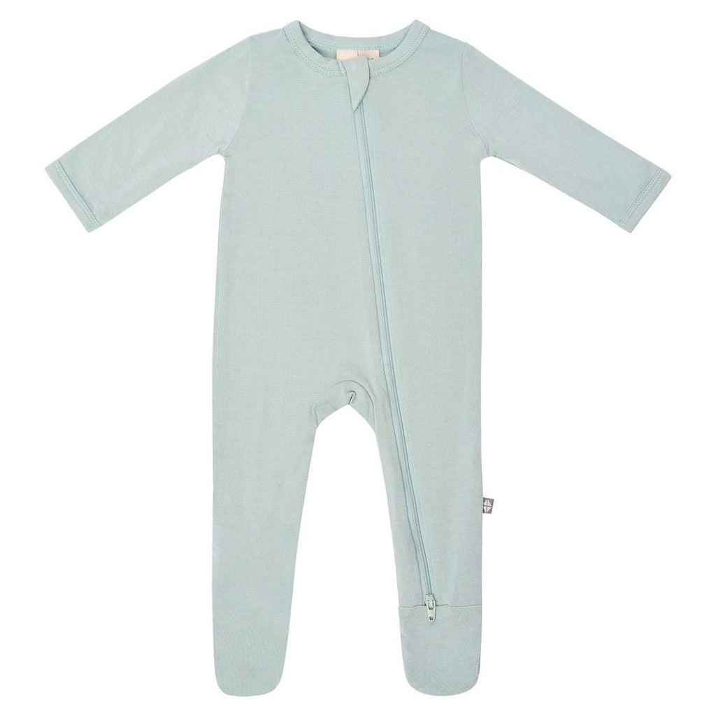 Zippered Footie PJ - Sage