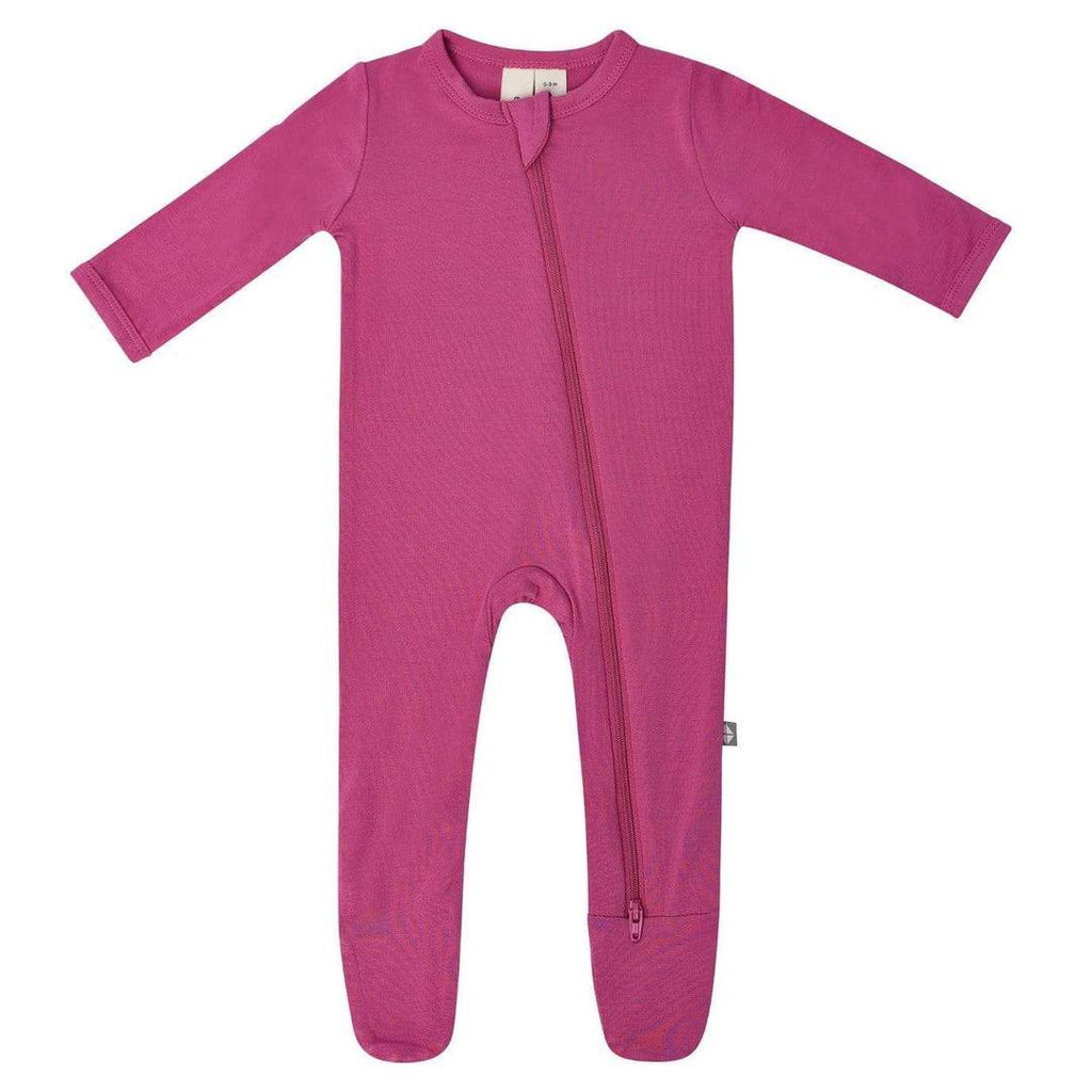 Zippered Footie PJ - Sangria