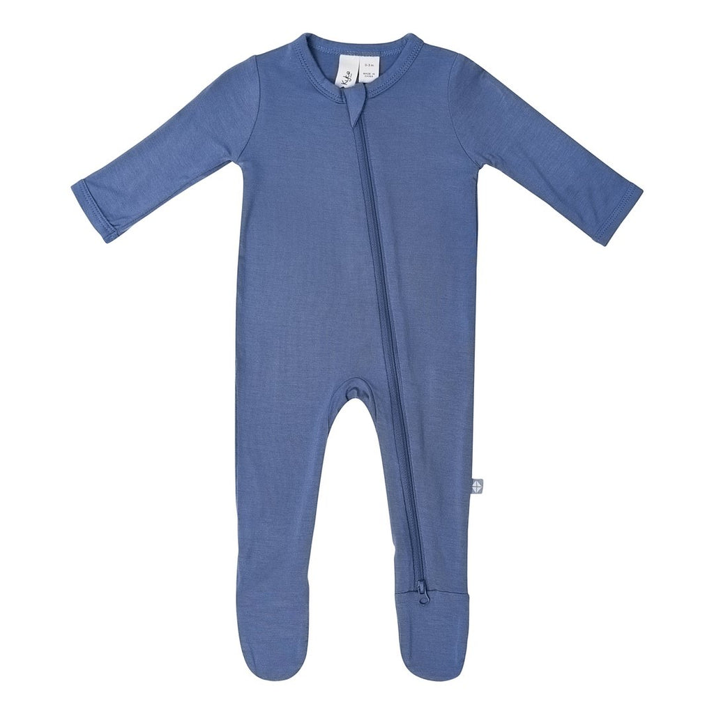 Zippered Footie PJ - Steel