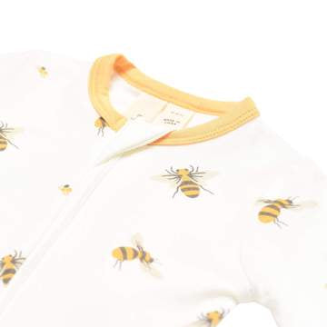 Printed Zippered Footie - Buzz
