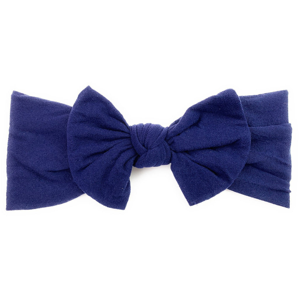 Infant Headwrap Nylon Bow Headband - Navy