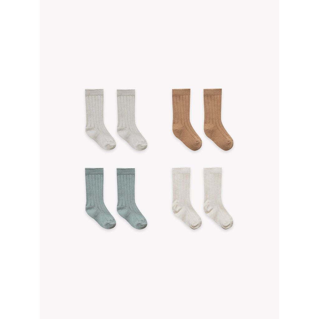 Baby Socks 4 pack - Ash, Copper, Sea, Pebble