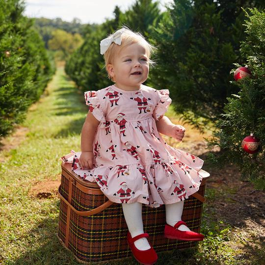 Baby Kit Dress - Strawberry Cream Santas