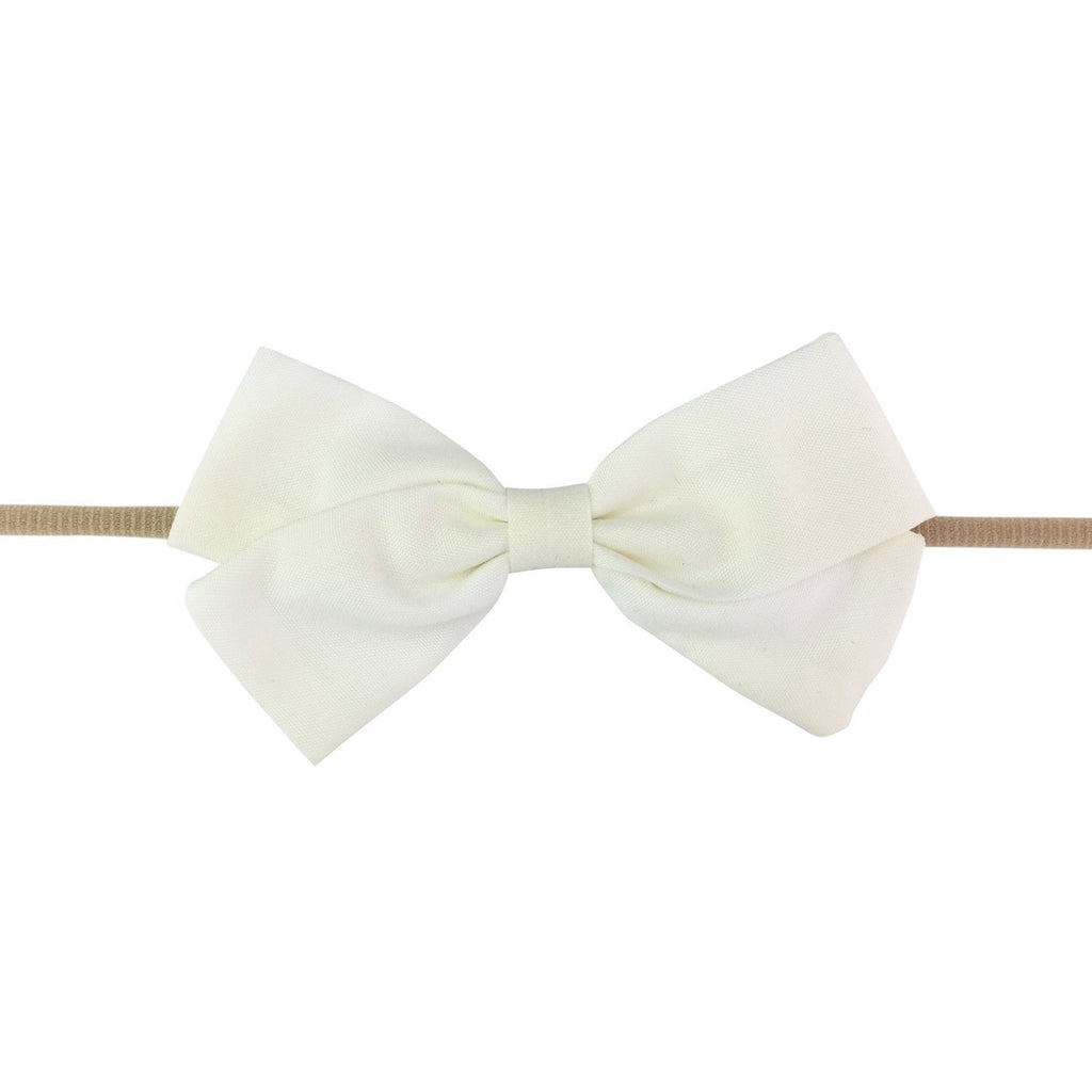 Emma Bow Infant Headband - White