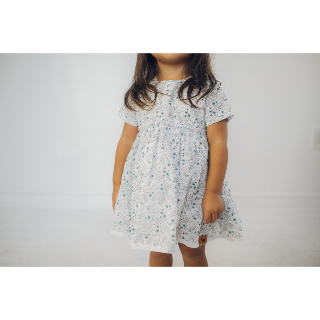 Tea Dress - Blue Twig
