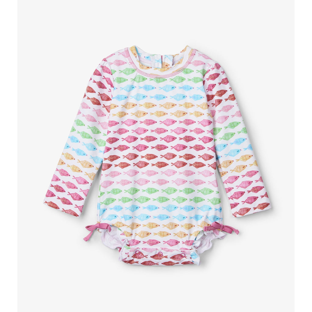 Watercolor Fishies Baby Rashguard Swimsuit