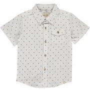Boy's Shirt - Navy Dot