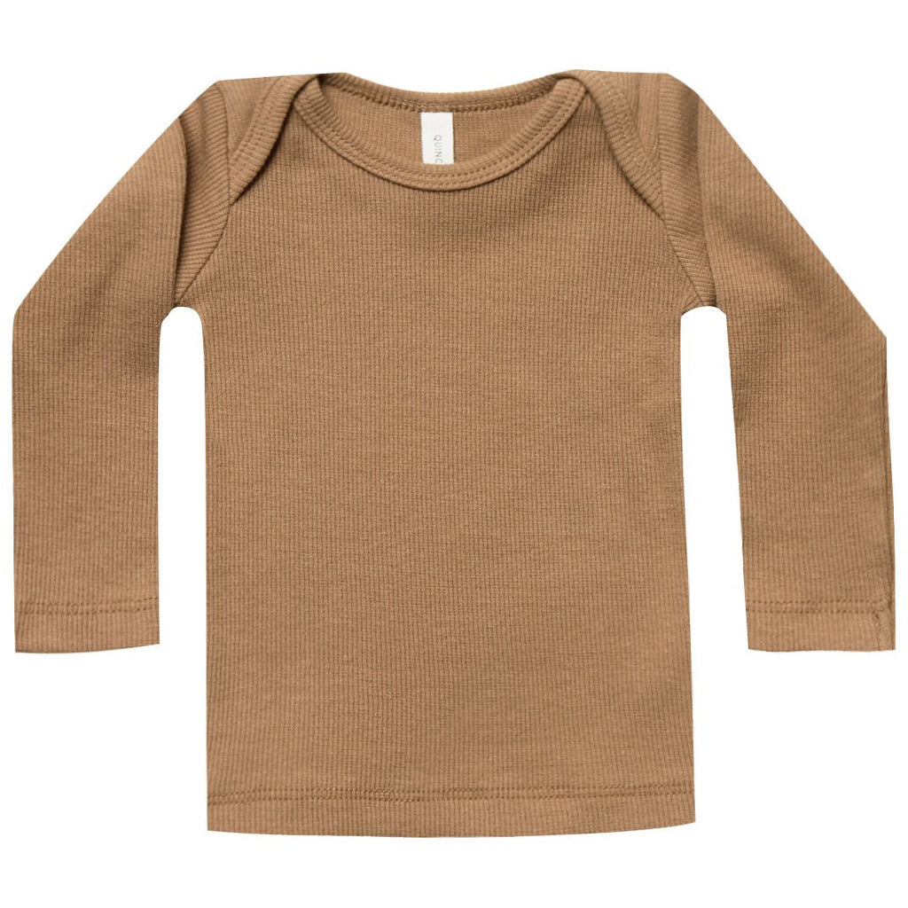Ribbed Longsleeve Lap Tee - Copper