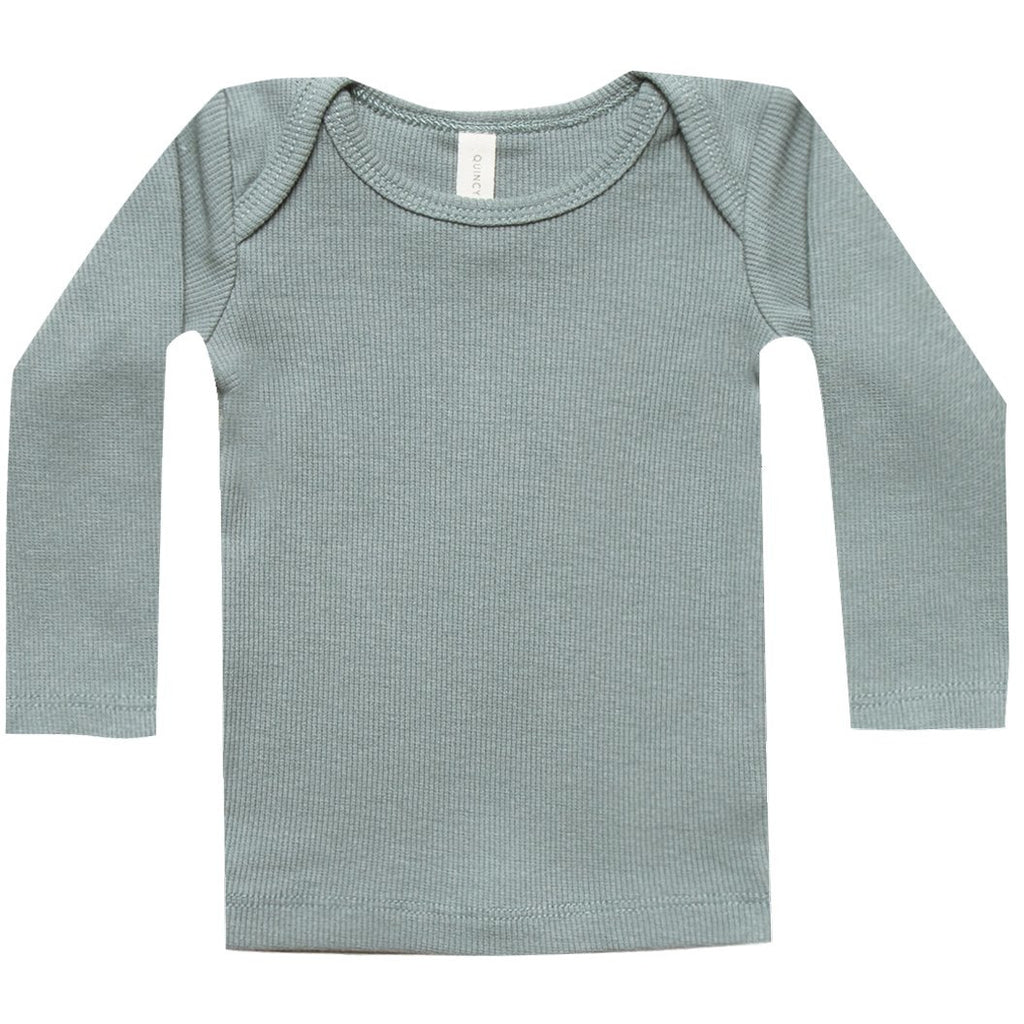 Ribbed Longsleeve Lap Tee - Sea