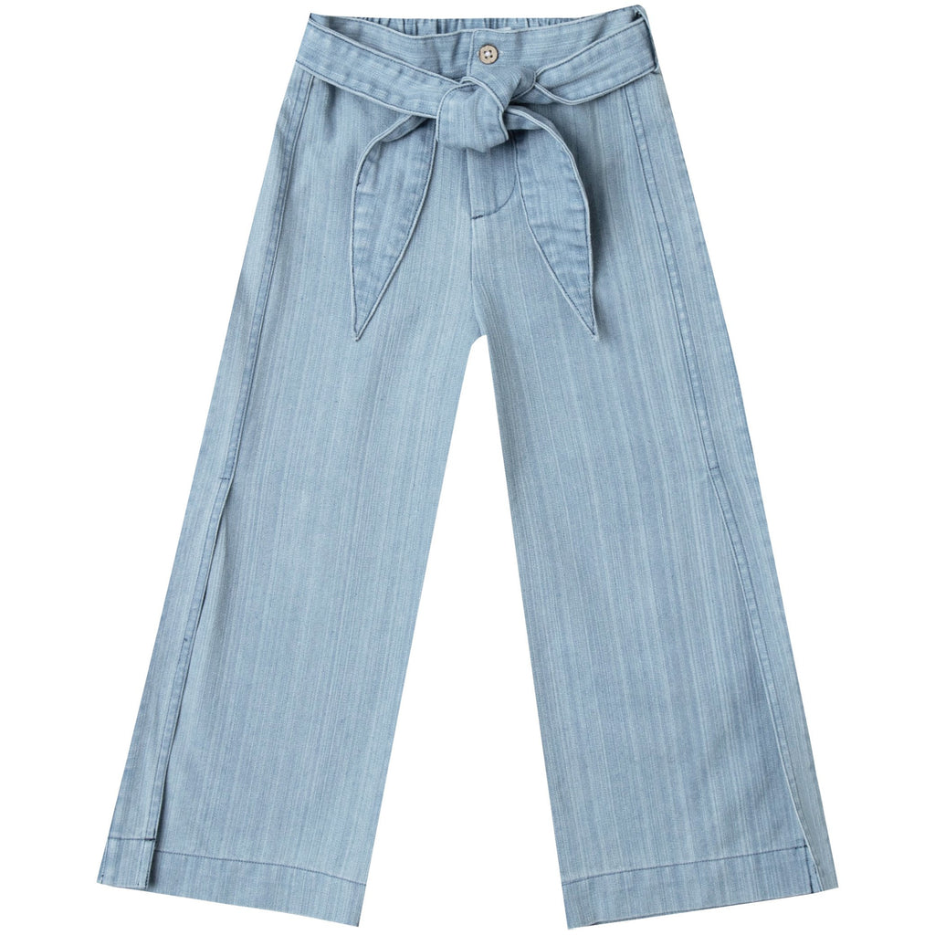 Wide Leg Pant - Washed Denim