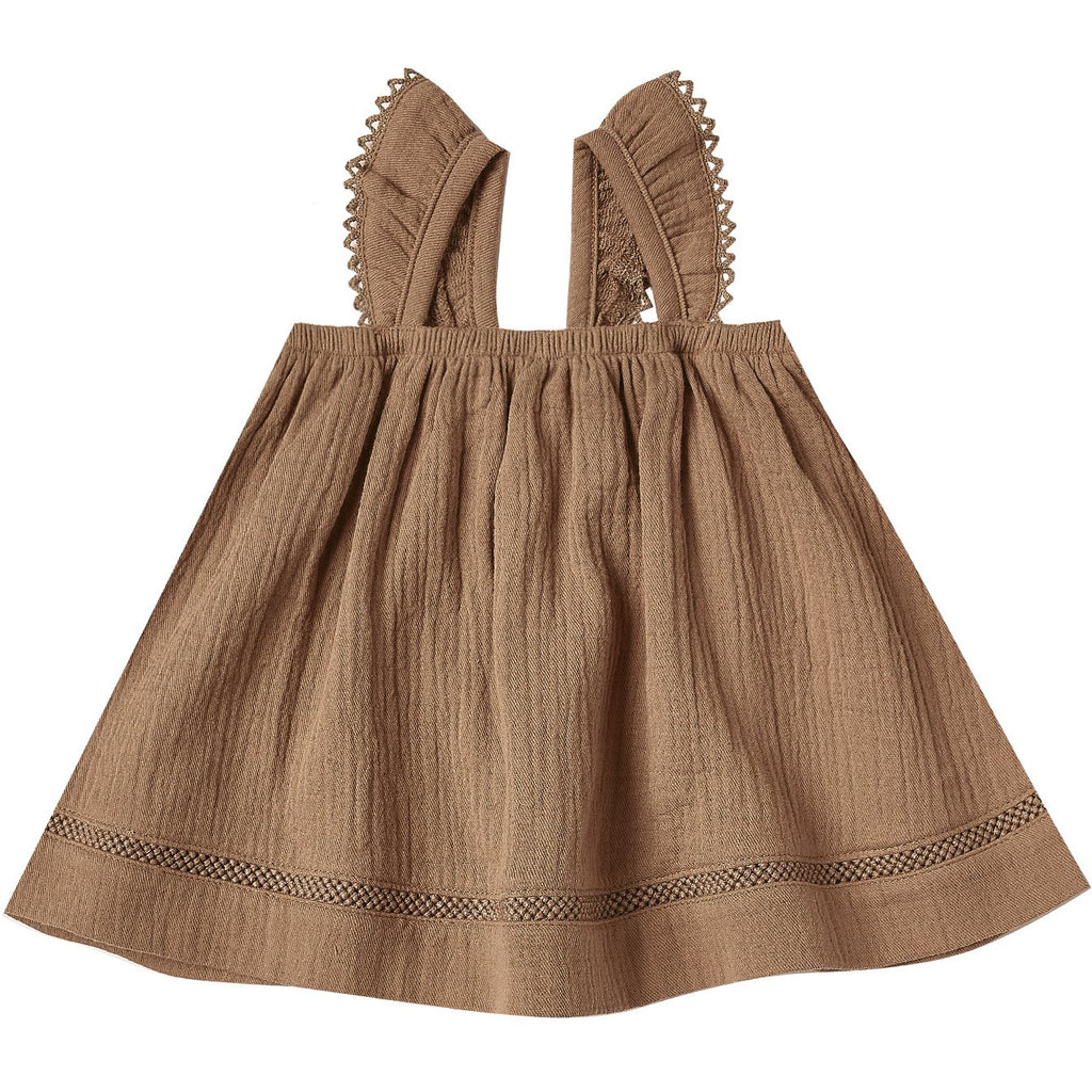 Ruffle Tube Dress - Rust