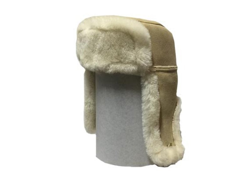 TRAPPER HAT - Hand Made Genuine sheepskin Ushanka hat