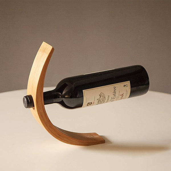 Aware Step Bamboo Wine Holder