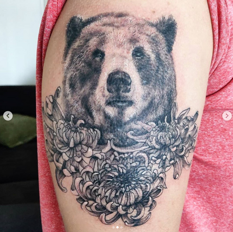 Bear Animal Portrait Tattoo