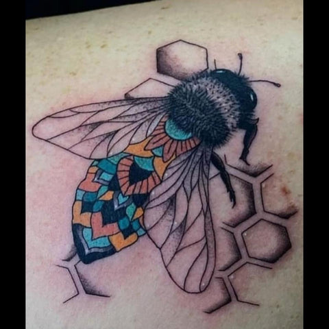 Bee and Honeycomb Tattoo  Best Easter Tattoos