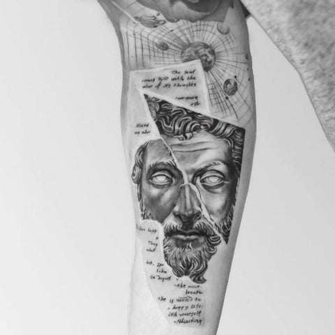 Marcus Aurelius Tattoo Best Stoic Tattoo Ideas