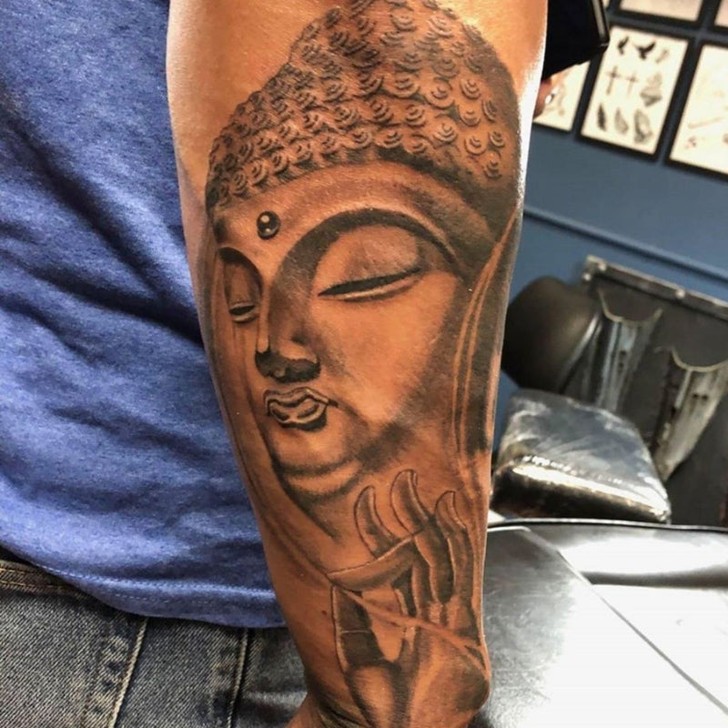 Budda Blackwork Tattoo