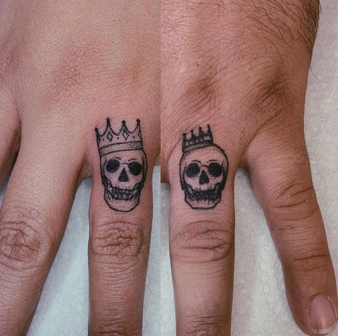 Crown and Skull Tattoos
