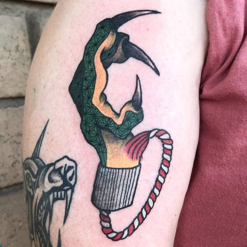 Neo-Traditional Dragons Claw Tattoo