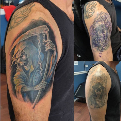 Large Tattoo Cover Ups Grim Reaper Best Tattoo Cover Up Ideas