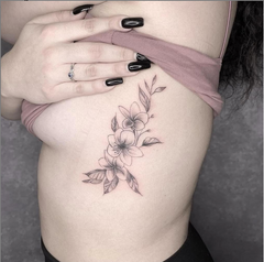 Mom Flower Side Tattoo