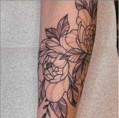 Shaded Flower Tattoo