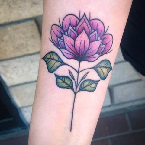 Neo Traditional Color Flower Tattoo Best Flower Tattoo Ideas