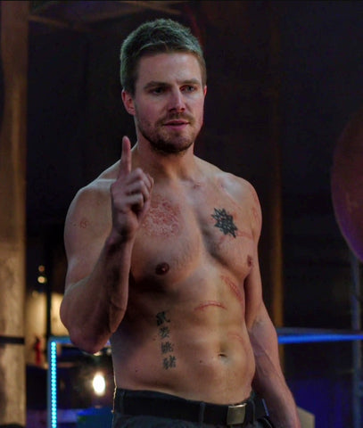 Oliver Queen Tattoos Arrow TV Show