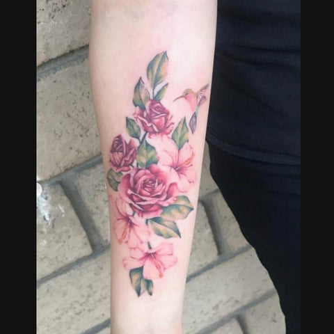 Red and Pink Roses Forearm Tattoo Best Forearm Tattoo Ideas