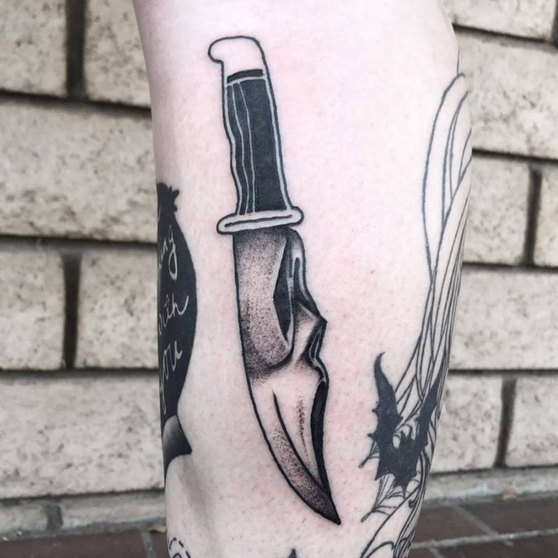 Scream Knife Tattoo
