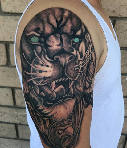 Shoulder Tattoo Lion