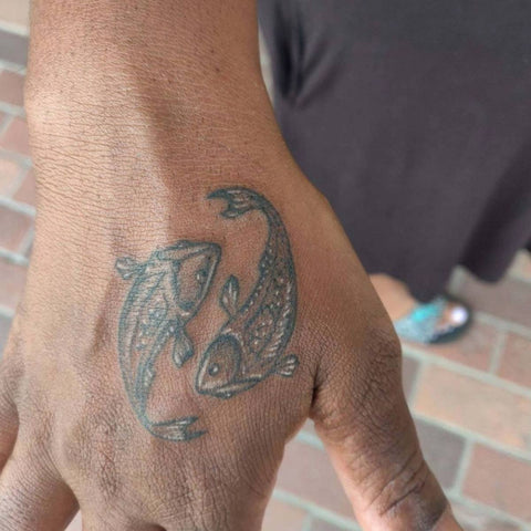 Small Pisces Hand Tattoo Fish Best Pisces Tattoo