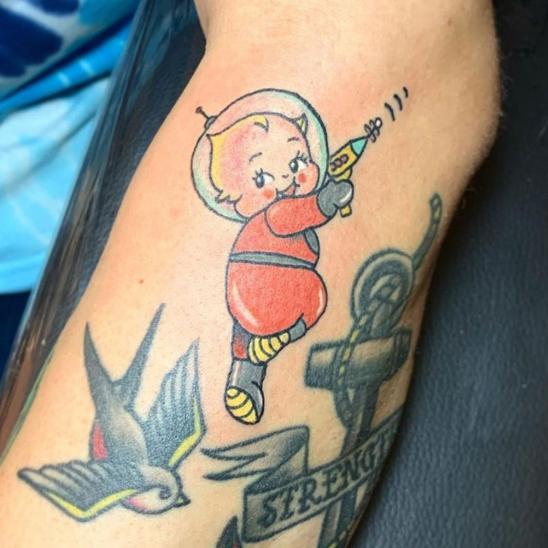 Traditional Space Baby Tattoo Mr. Inkwells Tattoos