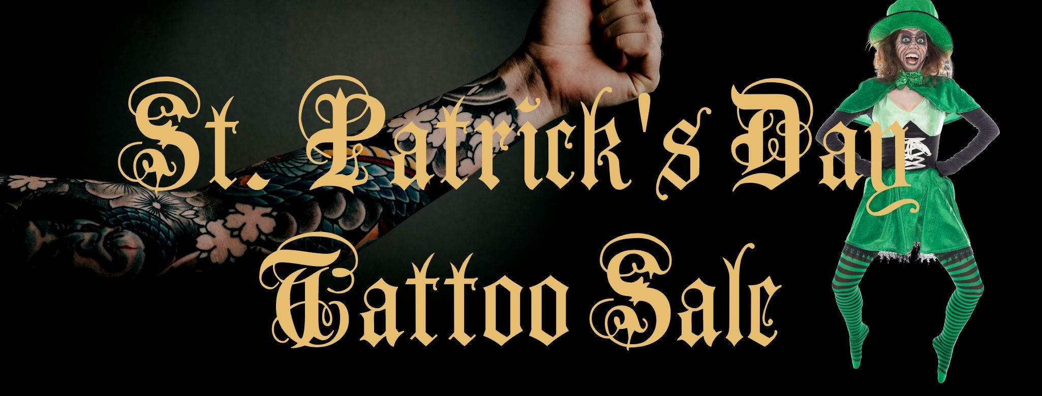 St. Patricks Day Tattoo Sale
