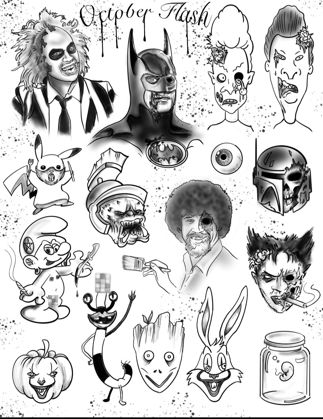 Steves Halloween Tattoo Flash
