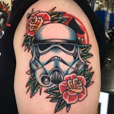 Traditional Storm Trooper Tattoo