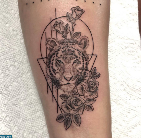 Tigers Animal Portrait Tattoo