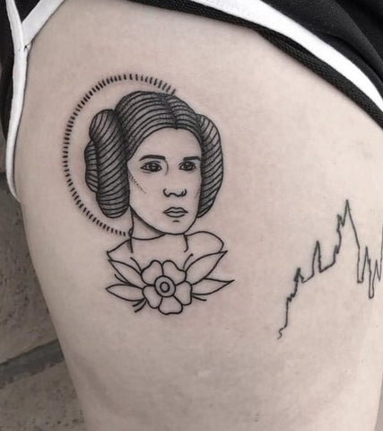 Traditional Princess Leia Tattoo