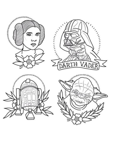 Traditional Star Wars Tattoo Flash