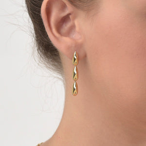 Spiked Drop, dangle earrings