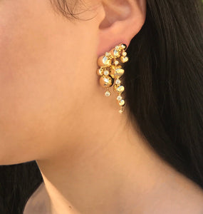 Dancing Spikes, dangle earrings