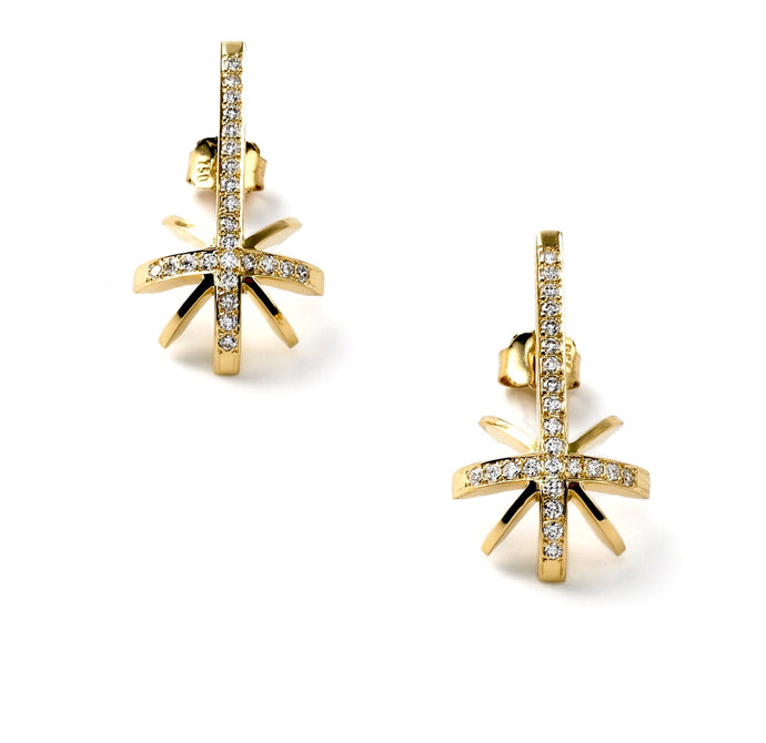 'Shooting Star', ear studs