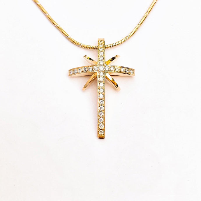 Star, cross pendant