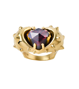 Spiked heart, ring