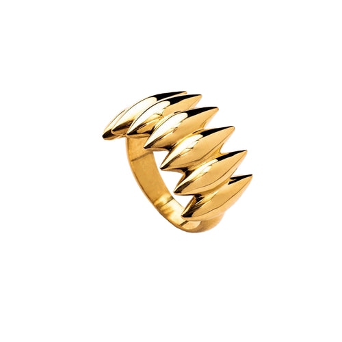 Grain Array ring, gold