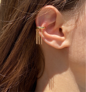 Tasseled  ear cuff